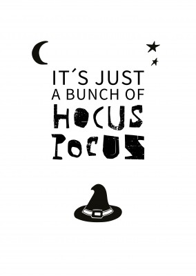 Spruch Karte It's just a bunch of hocus pocus