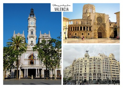 Valencia old town in three photos