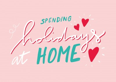 HOLIDAY FROM HOME handwritten