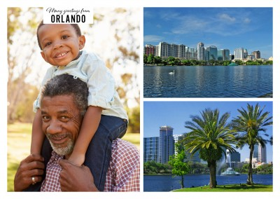 Orlando and  Eola Lake in two photos