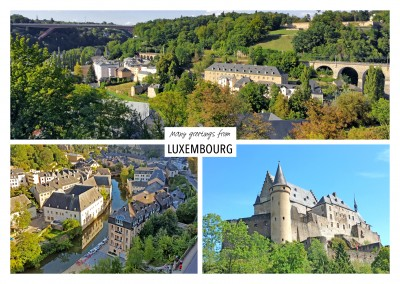 Three photos of luxembourg