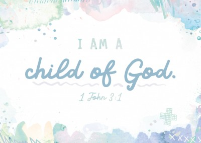 postcard SegensArt I am a child of god