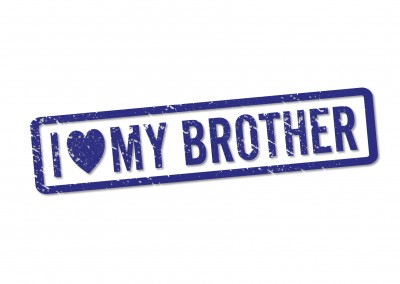 blue seal brother i love you postcard