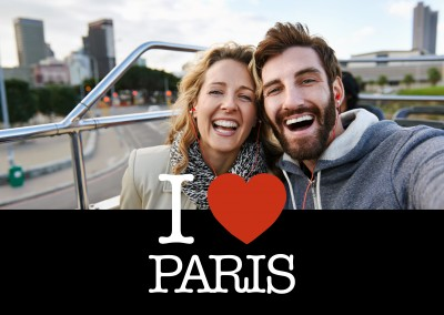 I love Paris Postcard
