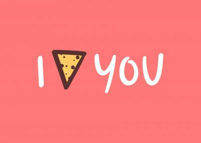 I love you, with a nacho instead of a heart.