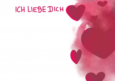 Over-night Design ich liebe dich