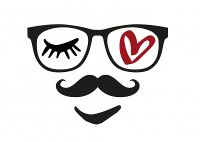 illustration Eye-love glasses