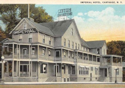 Mary L. Martin Ltd. – Carthage New York Imperial Hotel Vintage Postcard