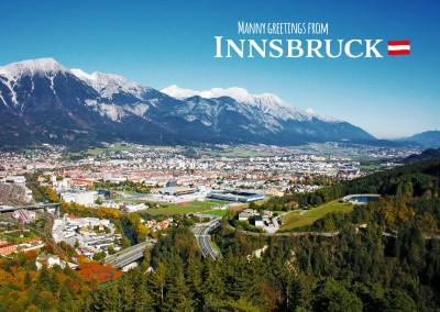 Panoramaphoto of Innsbruck with Alps