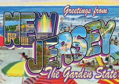 New Jersey Stile Retrò Cartolina