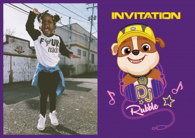 PAW Patrol postcard Rubble invitation