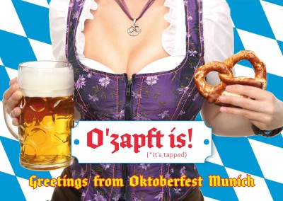 Oktoberfest girl in Dirndl