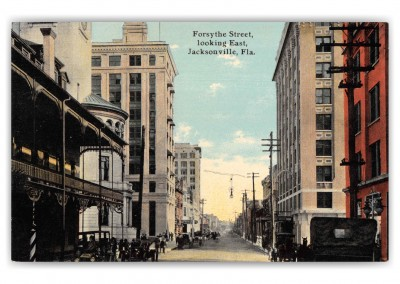 Jacksonville Florida Forsythe Street Looking East