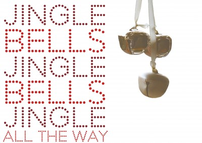 Jingle Bells dotted font with small bells photo