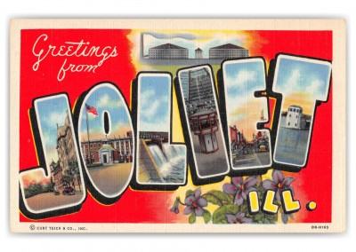 Joliet Illinois Large Letter Greetings