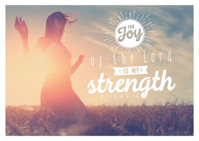 postcard SegensArt The joy of the Lord is my strenght