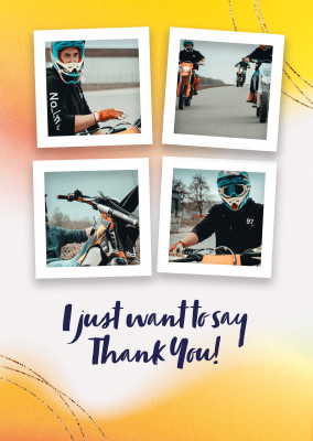 postcard I just want to say thank you