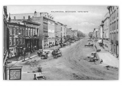 Kalamazoo, Michigan, Main street 1870 to 1873