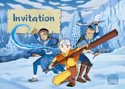 AVATAR: The Last Airbender Postkarte AVATAR: The Last Airbender Invitation