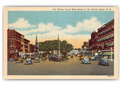 Keene, New Hampshire, widest paved main street in the world