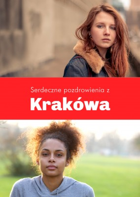 Krakow greetings in Polish language