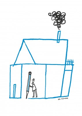 Del Hambre Illustration à la maison