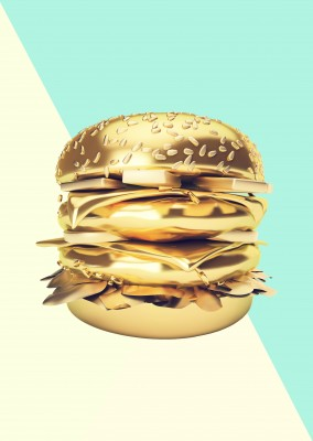 Kubistika goldender Big Mac