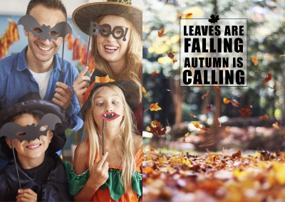 quote card Leaves are falling autumn is calling