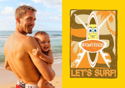 Let's Surf! - Spongebob Squarepants surf board