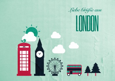 london illustration mypostcard postkarte