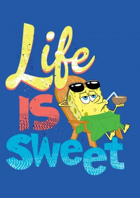 Life is Sweet - Spongebob having a cocktail