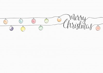 illustration watercolour christmas lights