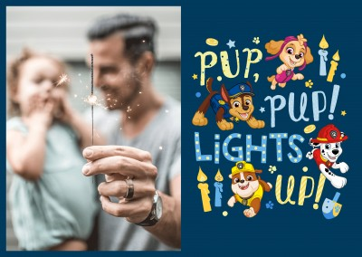 PAW Patrol postcard Pup pup lights up