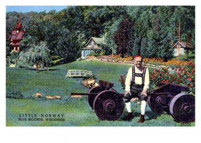 Curt Teich Postcard Archives Collection Little Norway, Blue Mounds, Wisconsin