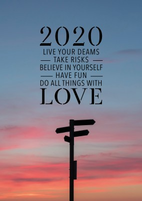 Live your dreams, take risks, believe in yourself do things with love Spruch