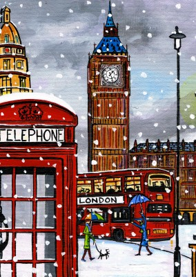 Illustration Södra London Konstnären Dan London calling