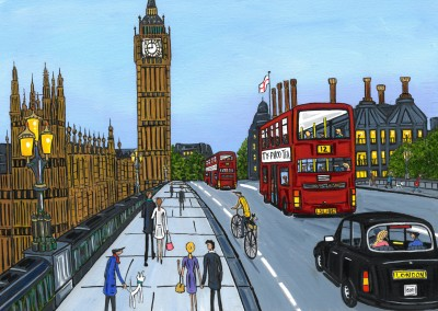 Illustration Södra London Konstnären Dan London staden