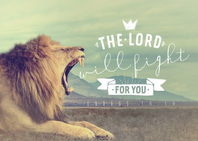 postcard The Lord will fight for you