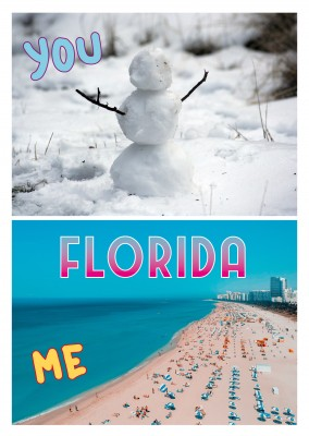 collage de fotos de muñeco de nieve y la playa