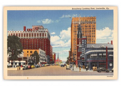 Lousiville, Kentucky, broadway looking east