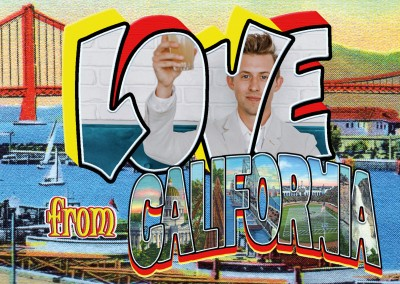 Vintage Grußkarte Large Letter Postcard Site Love from California