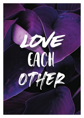 postcard Love each other