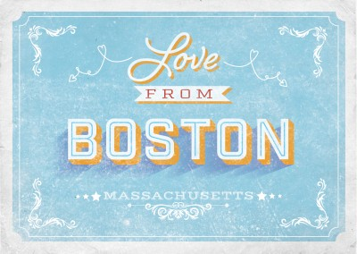 Vintage postcard Boston