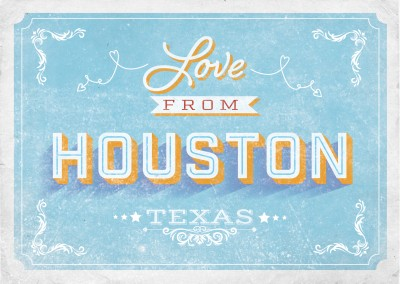 Vintage postcard Houston, Texas
