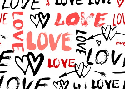 love postcard design