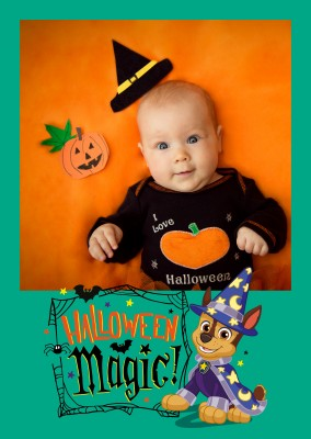 PAW Patrol postcard Halloween Magic