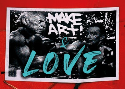 postcard Make art and love