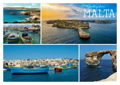 malta photo collage postcard mypostcard