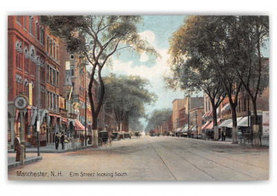 Manchester, New Hampshire, Elm Street looking South