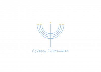 Minimalistisches Menorah, Happy Hanukkah